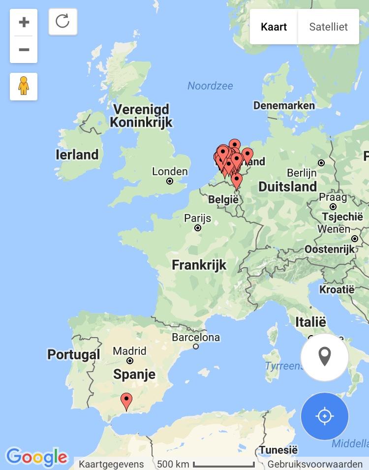 fietsenhokken in Europa